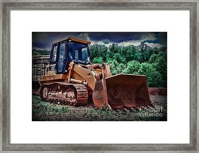 Heavy Construction Equipment - Bulldozer Framed Print by Paul Ward