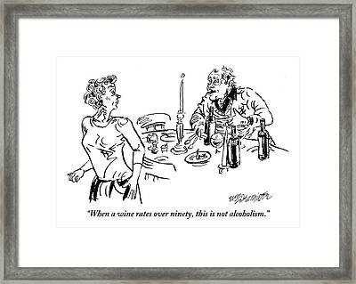 Heavy-drinking Man Speaks To Woman Who Is Walking Framed Print