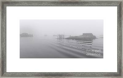 Heavy Fog And Gentle Ripples Framed Print by Marty Saccone