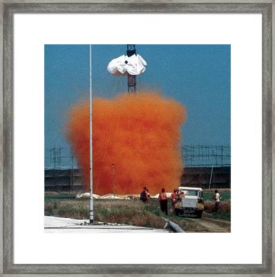 Heavy Gas Dispersion Trials Framed Print by Crown Copyright/health & Safety Laboratory Science Photo Library