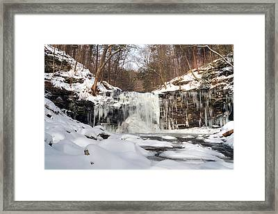 Heavy Ice At Harrison Wright Framed Print by Gene Walls