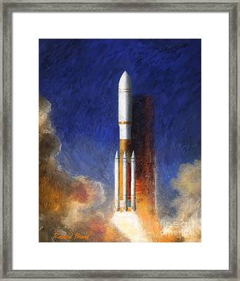 Heavy Lift Framed Print