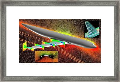 Heavy-lift Transport Aircraft Simulation Framed Print