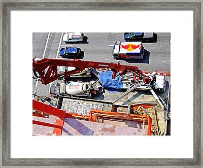 Heavy Lifting Pumper Framed Print