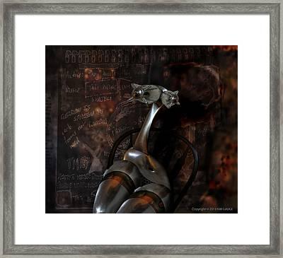 Framed Print featuring the digital art Heavy Metal Girl by Kim Gauge