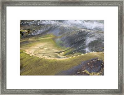 Heavy Metal Water Glacier National Park Framed Print by Rich Franco
