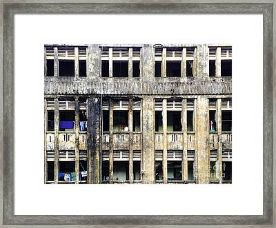 Heavy Pollution Takes Its Toll On Buildings Sule Pagoda Road Yangon Burma Framed Print by PIXELS  XPOSED Ralph A Ledergerber Photography