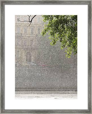 Heavy Rain Framed Print by Jan Halaska