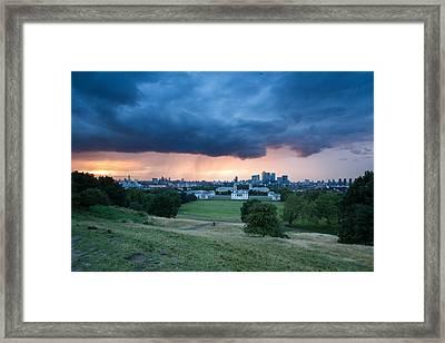 Heavy Rains Over London Framed Print by Wayne Molyneux
