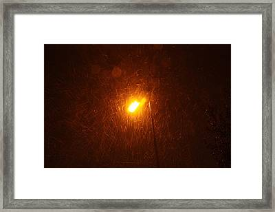 Framed Print featuring the photograph Heavy Snows By Lamplight by Jean Walker