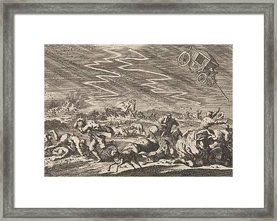 Heavy Storm At Donsenhausen In Thuringen Framed Print