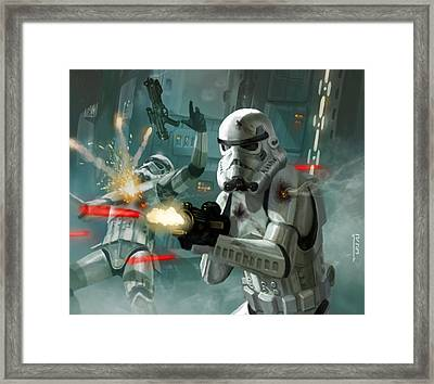 Heavy Storm Trooper - Star Wars The Card Game Framed Print by Ryan Barger