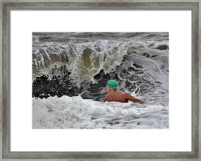 Heavy Surf - Lifeguard Competition Framed Print by Kim Bemis