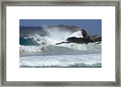 Heavy Surf Action Fernando De Noronha Brazil 1 Framed Print