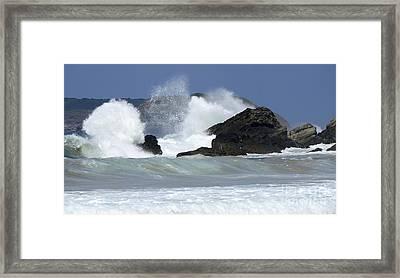 Heavy Surf Action Fernando De Noronha Brazil 2 Framed Print