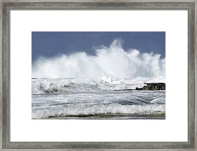 Heavy Surf Action Fernando De Noronha Brazil 3 Framed Print