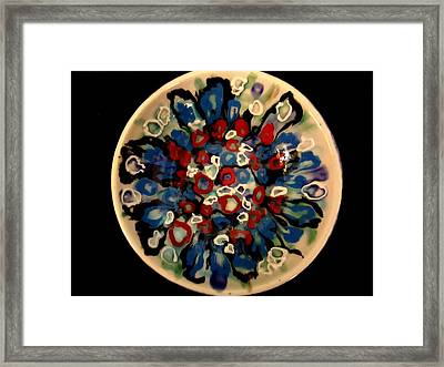 Heavy Textured Bowl Framed Print by Martha Nelson