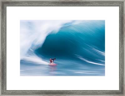 Heavy Water Speed Framed Print