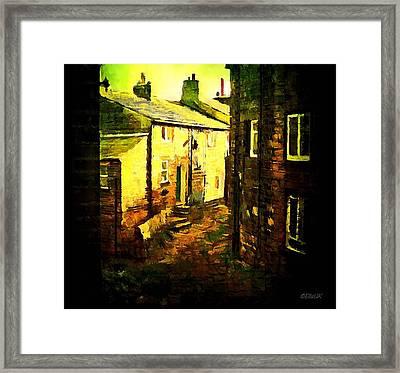 Hebden Bridge Alley Framed Print by Helen Stapleton