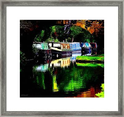 Hebden Bridge Canal Framed Print by Helen Stapleton