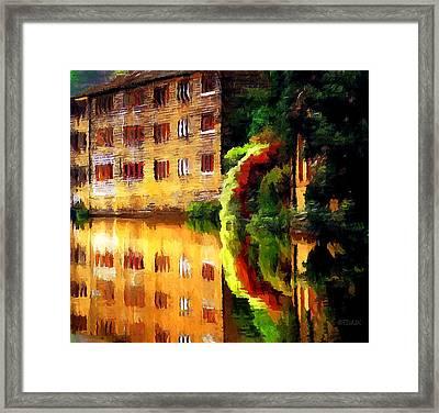 Hebden Bridge Water Framed Print by Helen Stapleton