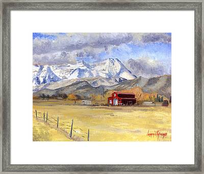Heber Valley Farm Framed Print by Jeff Brimley