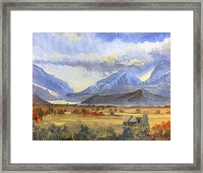 Heber Valley Sunset Framed Print by Jeff Brimley