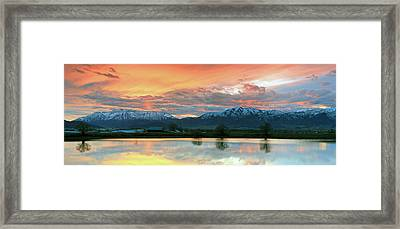 Heber Valley Sunset Framed Print by Johnny Adolphson