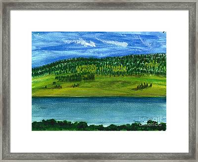 Hebgon Lake 2 Framed Print