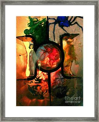 Framed Print featuring the mixed media Hecate- Queen Of The Crossroads And Underworld by Steed Edwards