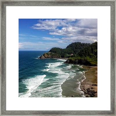 Heceta Head Framed Print by Darren  White