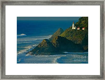 Heceta Head Seascape Framed Print