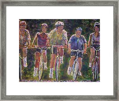 Heck On Wheels Framed Print by Linda Vaughon