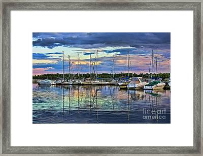 Hecla Island Boats Framed Print