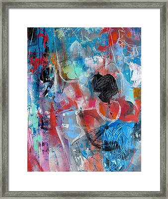 Framed Print featuring the painting Hectic by Katie Black