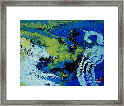 Framed Print featuring the painting Hectic Reflections by Arlene Sundby