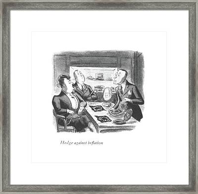 Hedge Against In?ation Framed Print by William Steig