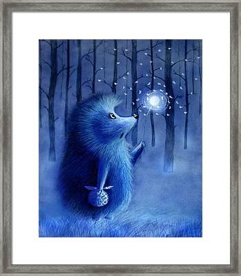 Hedgehog In The Hog  Framed Print