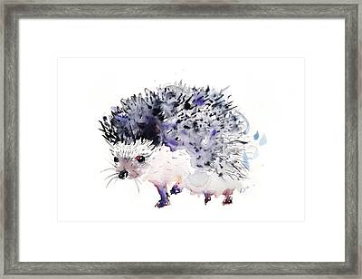 Hedgehog Framed Print by Krista Bros
