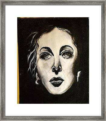 Framed Print featuring the painting Hedi by Sandro Ramani
