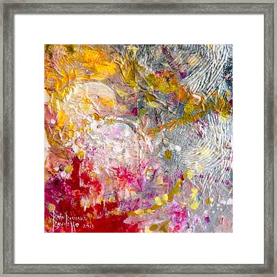 Framed Print featuring the painting Hedonic by Ron Richard Baviello