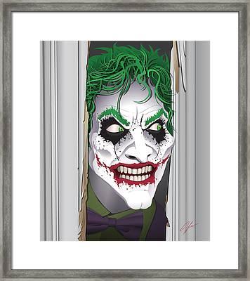 Heeeeeeeres Joker Framed Print