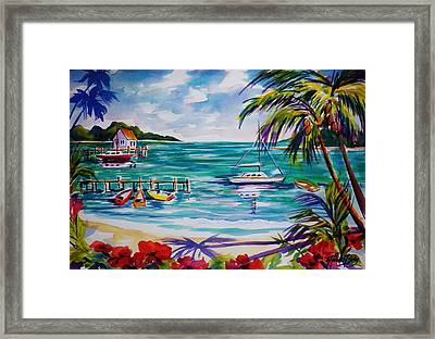 Heeia Bay Pier On Oahu Framed Print by Therese Fowler-Bailey