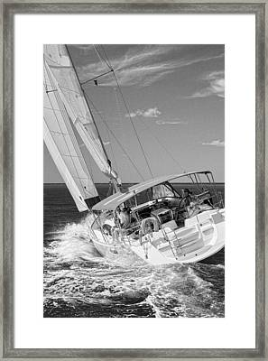 Heeled Over Framed Print