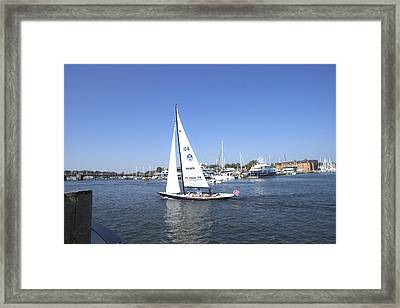 Framed Print featuring the photograph Heeling by Charles Kraus