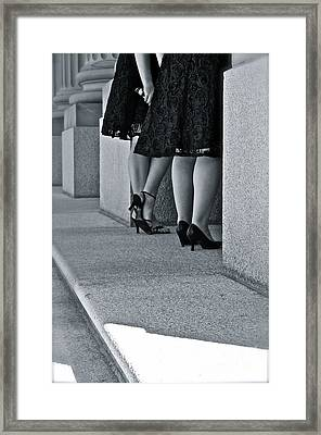 Heels And Lace Framed Print