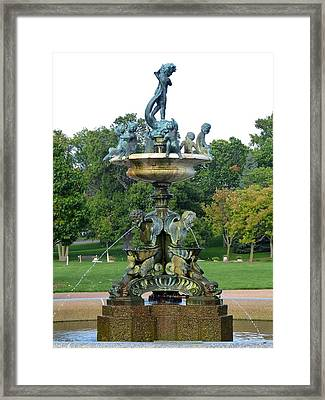 Heffelfinger Fountain Framed Print by Will Borden