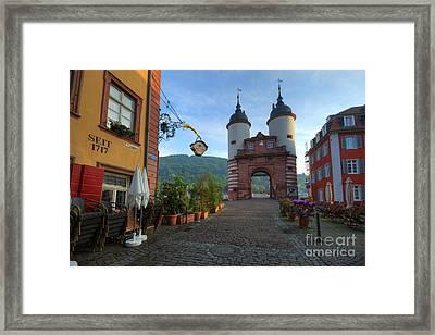 Heidelberg Brueckentor Framed Print by Richard Fairless