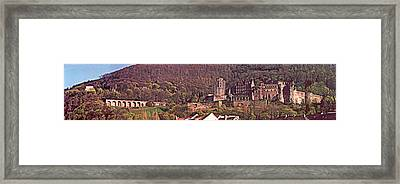 Heidelberg Castle And Arches Framed Print by Kimo Fernandez