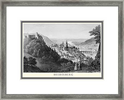 Heidelberg Etching Framed Print
